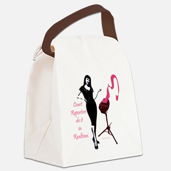 court_reporters_do_it_in_realtime Canvas Lunch Bag