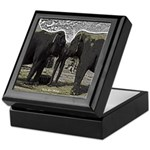 Elephant Eyes Woodcut Keepsake Box