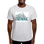 Grateful to be Catholic (Teal) Ash Grey T-Shirt