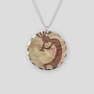 kokopelli_left Necklace Circle Charm