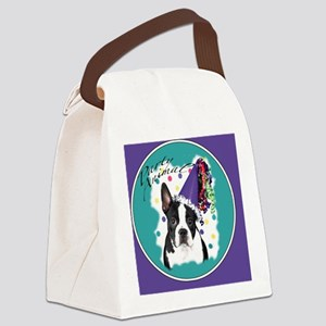 boston terrier party animal clock Canvas Lunch Bag