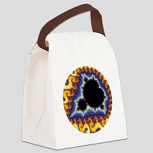 Mandelbrot round trans Canvas Lunch Bag