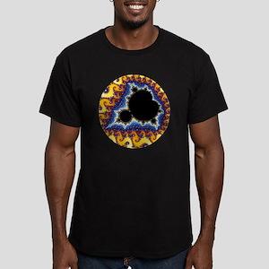 Mandelbrot round trans Men's Fitted T-Shirt (dark)