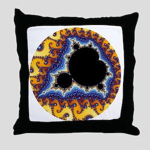 Mandelbrot round trans Throw Pillow