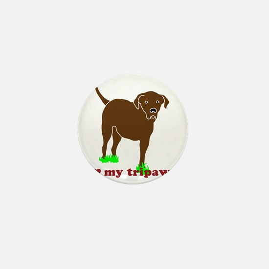 I Love My Tripawd Front Leg Lab Mini Button