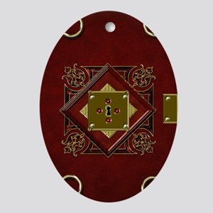2-red-book-of-rings Oval Ornament