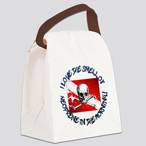 Neoprene_Skull_-_M Canvas Lunch Bag