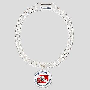 Neoprene_Skull_-_M Charm Bracelet, One Charm