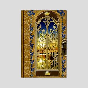 2-golden-sky-book Rectangle Magnet