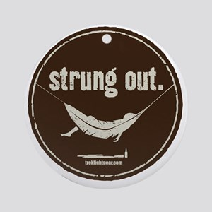 Strung Out Round Ornament