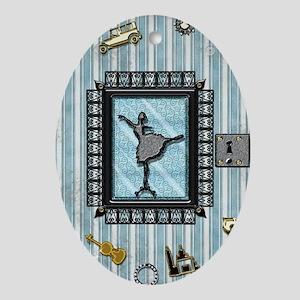 2-ParisDancer Oval Ornament