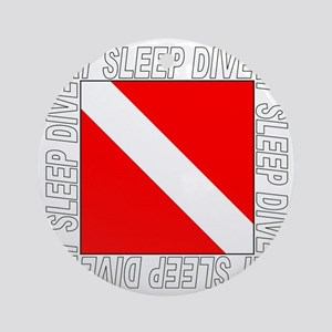 Eat_Sleep_Dive_2-M Round Ornament