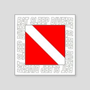 "Eat_Sleep_Dive_2-M Square Sticker 3"" x 3"""