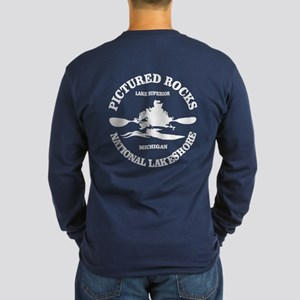 Pictured Rocks (rd) Long Sleeve T-Shirt