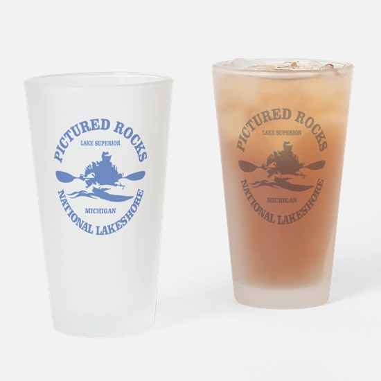 Pictured Rocks (rd) Drinking Glass