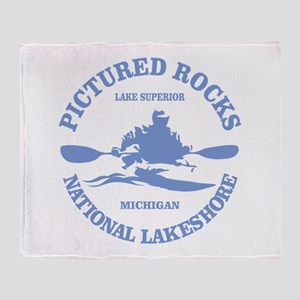 Pictured Rocks (rd) Throw Blanket
