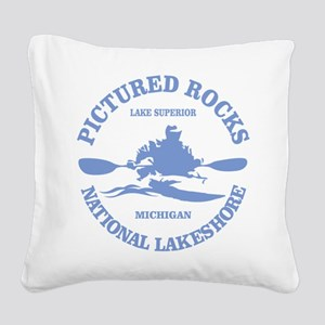 Pictured Rocks (rd) Square Canvas Pillow