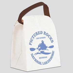 Pictured Rocks (rd) Canvas Lunch Bag