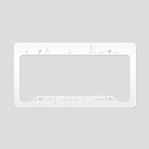 white ER 2 lisa License Plate Holder