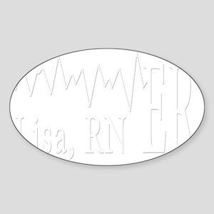 white ER 2 lisa Sticker (Oval)