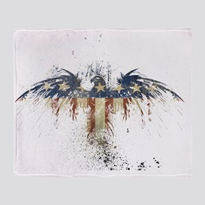 Patriotic_Eagle_Wallpaper_by_ipolles Throw Blanket