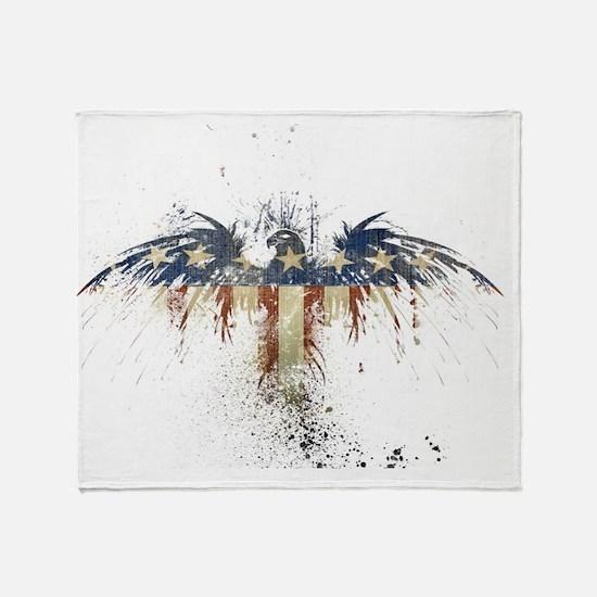 Patriotic_Eagle_Wallpaper_by_ipolles Throw Blanket