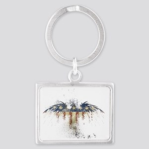 Patriotic_Eagle_Wallpaper_by_ip Landscape Keychain