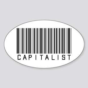 Capitalist Oval Sticker