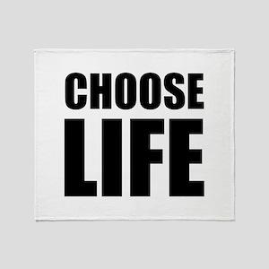 Choose Life Throw Blanket