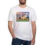 Cloud Star & Buckskin horse Fitted T-Shirt