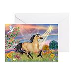 Cloud Star & Buckskin horse Greeting Cards (Packag