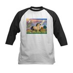 Cloud Star & Buckskin horse Kids Baseball Jersey
