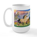 Cloud Star & Buckskin horse Large Mug