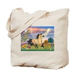 Cloud Star & Buckskin horse Tote Bag