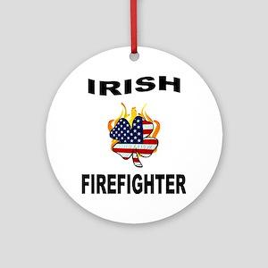 Irish Firefighter Round Ornament