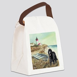 2-boat and newf Canvas Lunch Bag