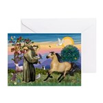 St. Francis & Buckskin horse Greeting Cards (Packa