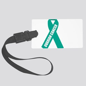 Ovarian-Cancer-Hope-blk Large Luggage Tag