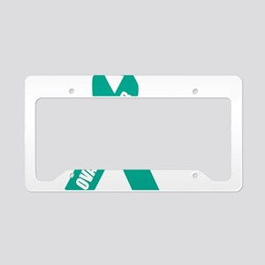 Ovarian-Cancer-Hope-blk License Plate Holder