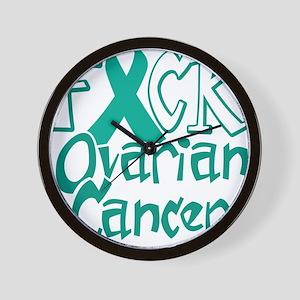 Fuck-Ovarian-Cancer-blk Wall Clock