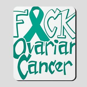Fuck-Ovarian-Cancer-blk Mousepad