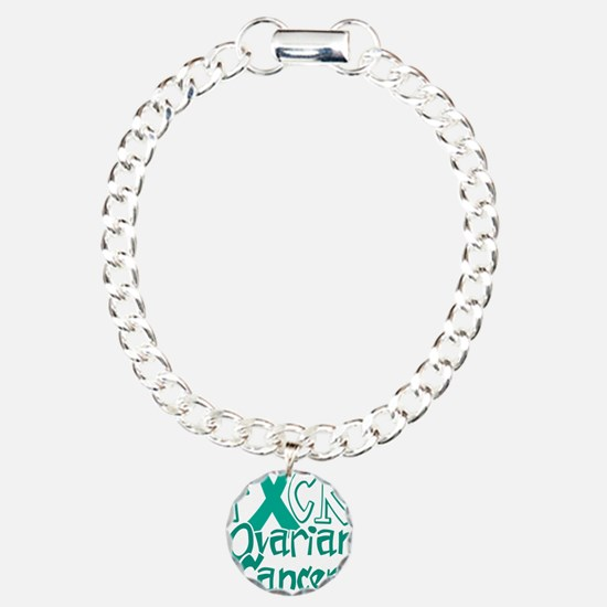 Fuck-Ovarian-Cancer-blk Charm Bracelet, One Charm