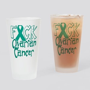 Fuck-Ovarian-Cancer-blk Drinking Glass