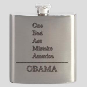 obama mistake tshirt  Flask