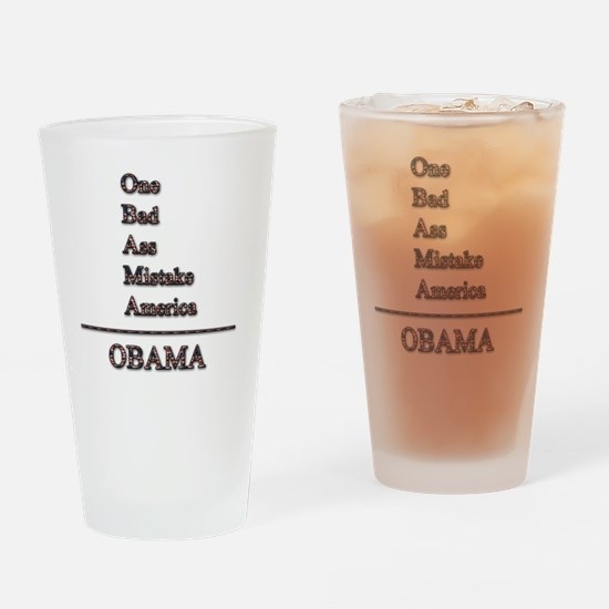 obama mistake tshirt png Drinking Glass
