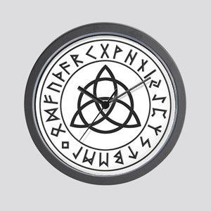 Triquetra Rune Shield Wall Clock