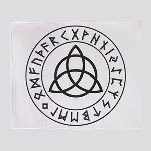 Triquetra Rune Shield Throw Blanket