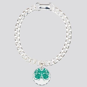 Ovarian-Cancer-Butterfly Charm Bracelet, One Charm