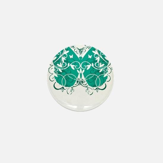 Ovarian-Cancer-Butterfly-blk Mini Button