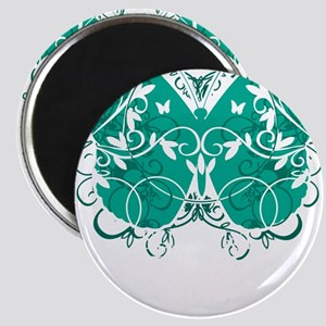 Ovarian-Cancer-Butterfly-blk Magnet